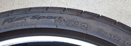 Porsches N-märkta däck